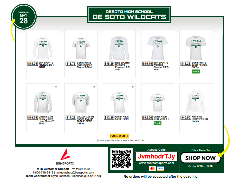 """Online Store: """"Wildcat Strong"""", """"We Are One"""", and """"One Team One Family"""""""