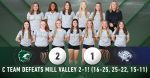 C Team Volleyball defeats Mill Valley 2-1