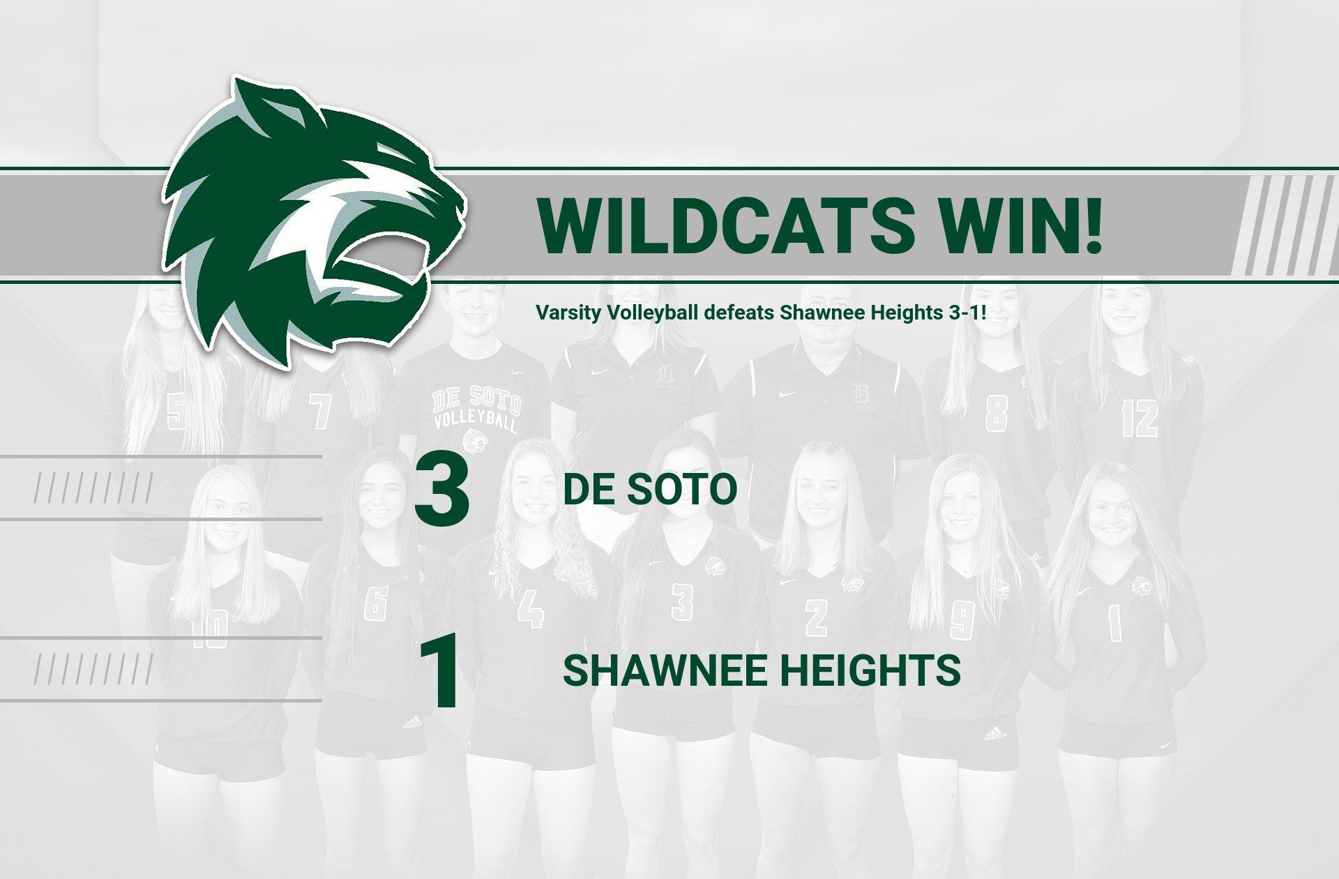 Varsity Volleyball defeats Shawnee Heights 3-1