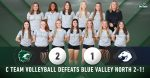 C Team Volleyball defeats Blue Valley North 2-1