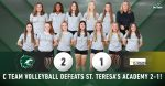 C Team Volleyball defeats St. Teresa's Academy 2-1
