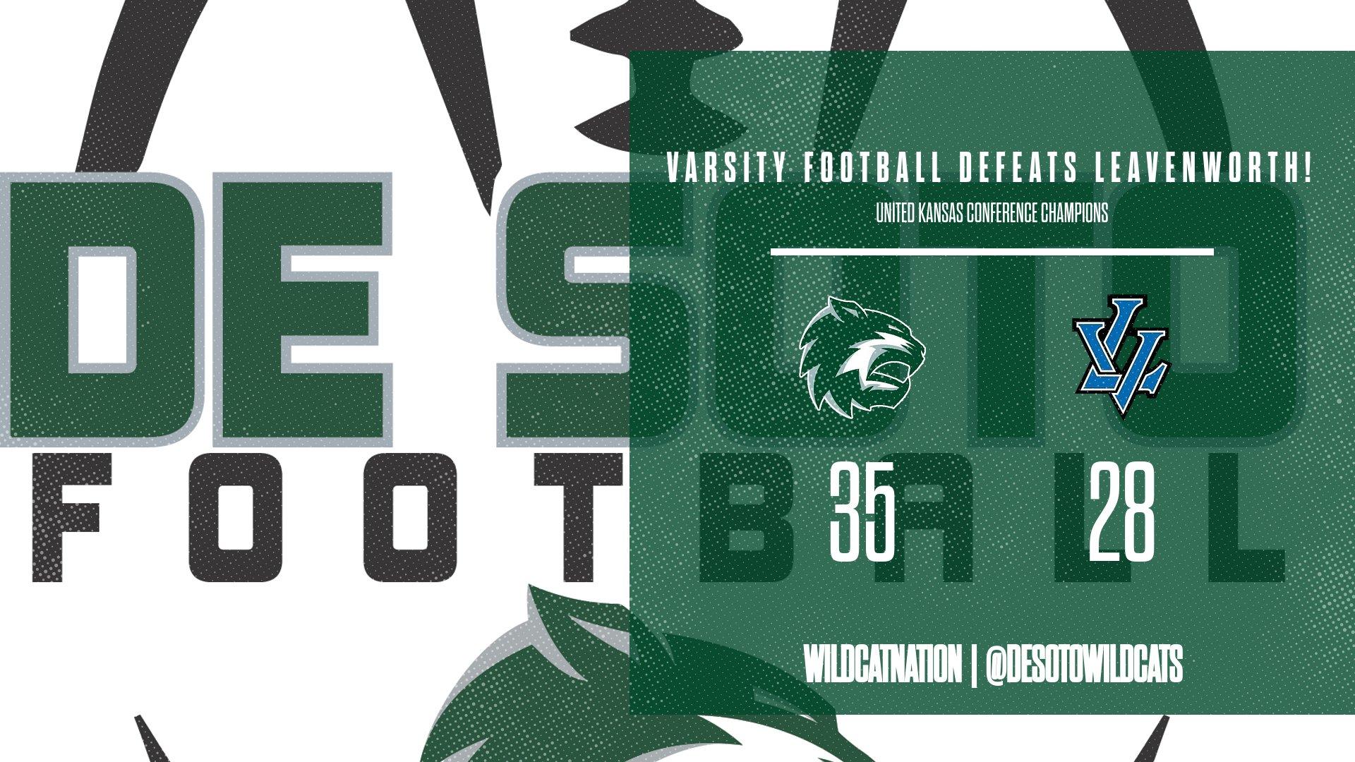 Varsity Football defeats Leavenworth 35-28