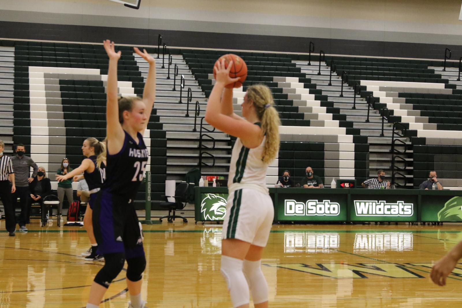 Varsity Girls Basketball vs. Blue Valley NW: Photos 12.10