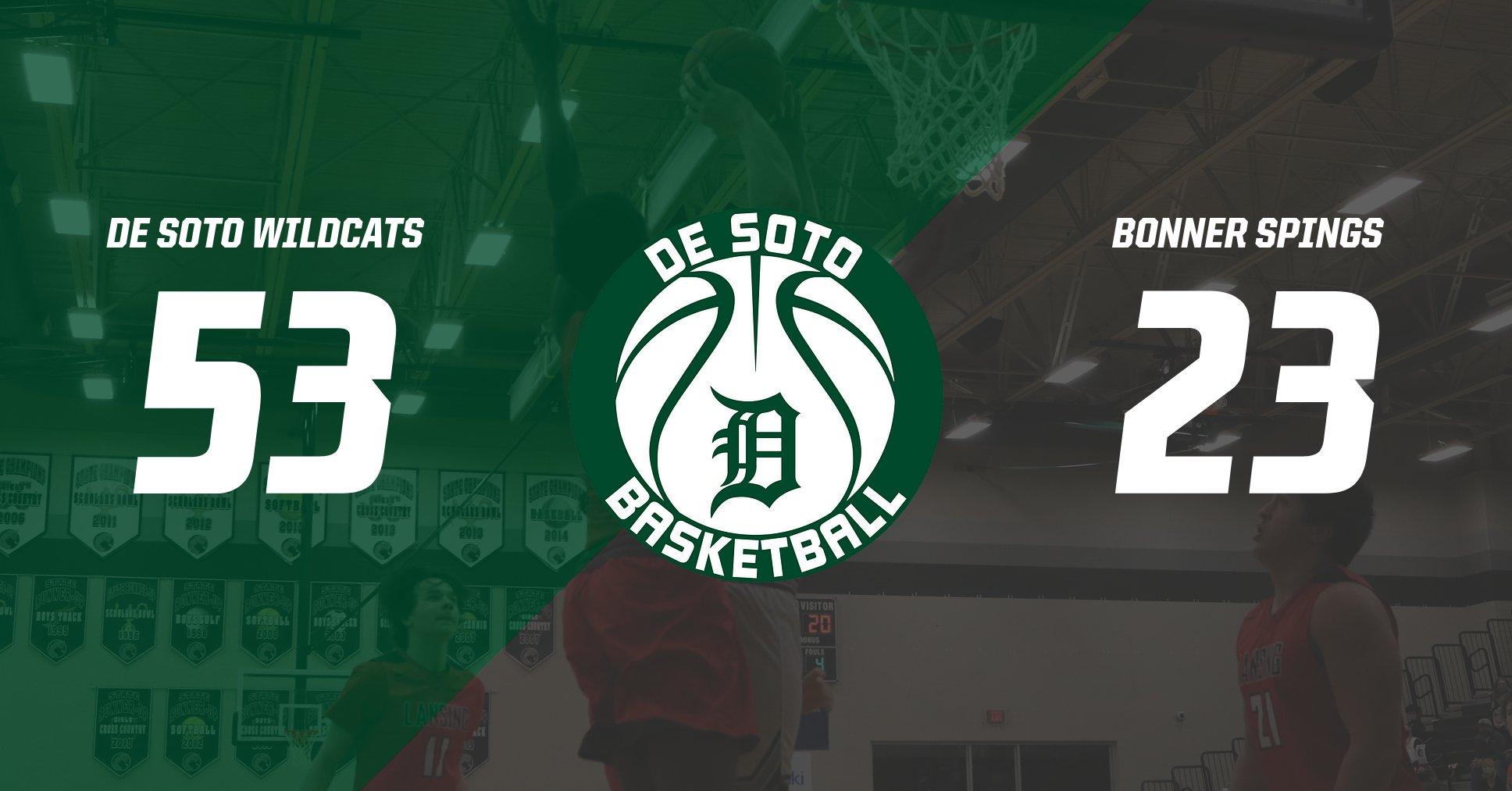Varsity Boys Basketball defeats Bonner Springs 53-23