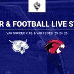 Livestream link for Soccer, C Football & Varsity Football