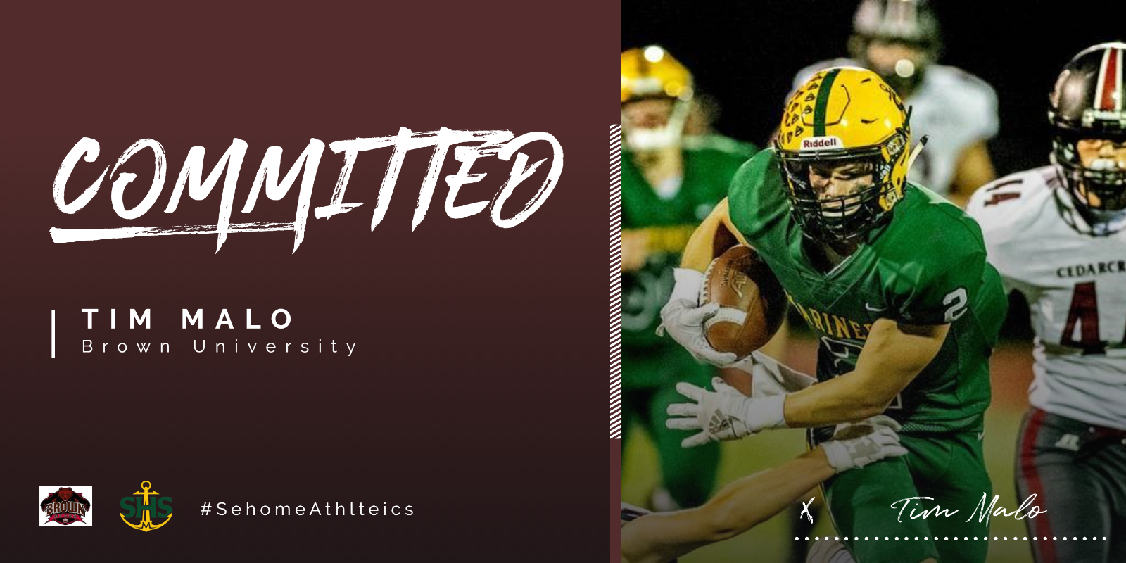 Tim Malo Committed to Brown University
