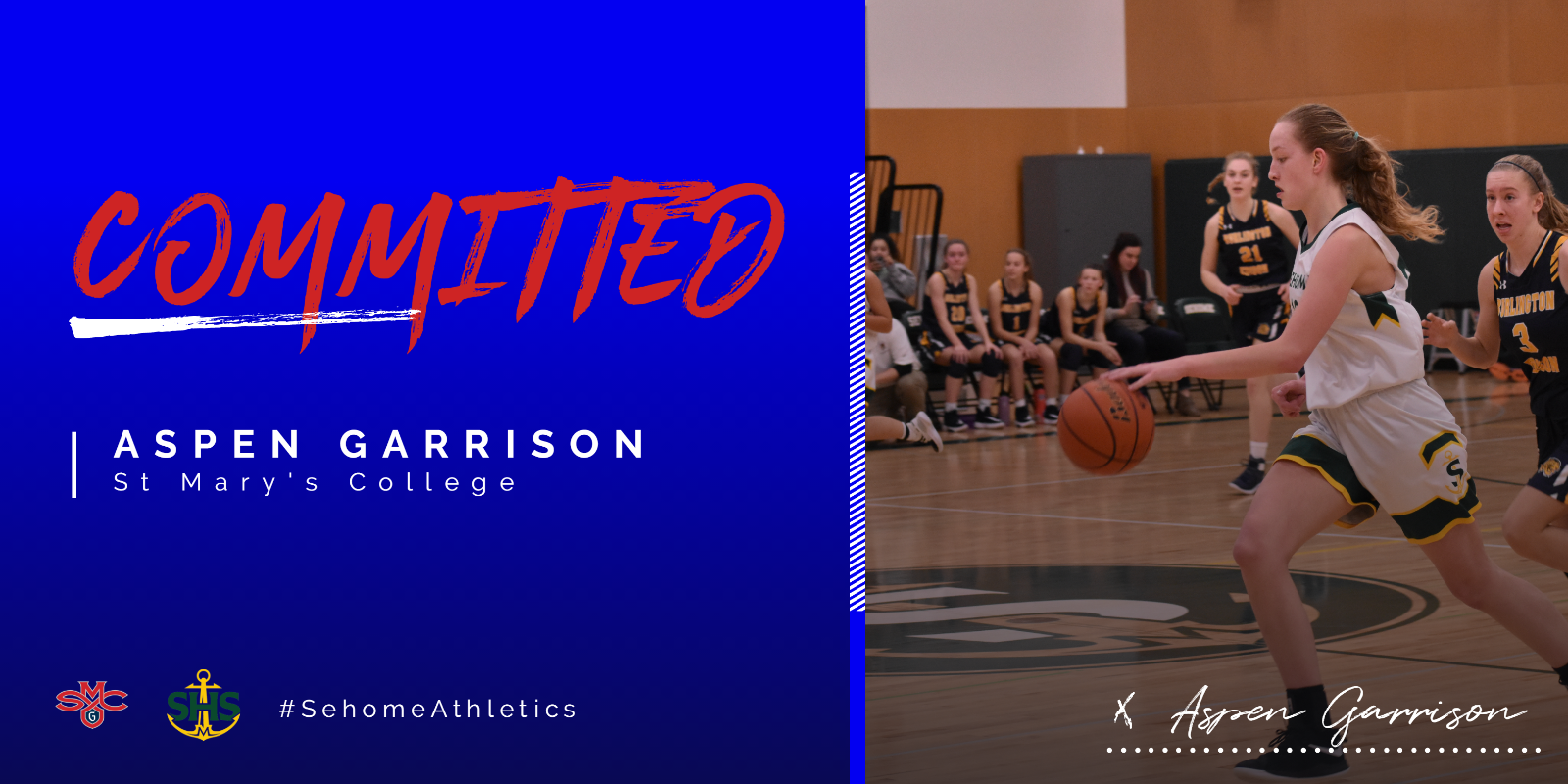 Aspen Garrison Committed to St. Mary's College