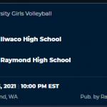 Tonight: Volleyball at Raymond  JV @ 5:45/Varsity @ 7:15  Live Stream using the NFHS Network
