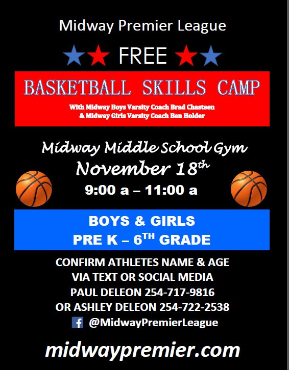 Free Skills Camp for Pre K-6th graders