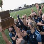 Hockinson girls soccer finishes off a year of zeroes with a district title trophy – Columbian Article and Photos