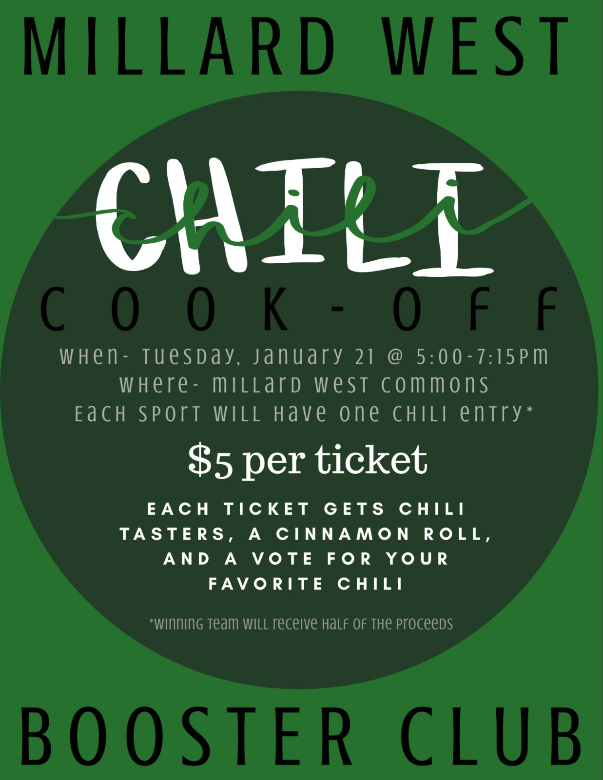 Booster Club Chili Cook-Off
