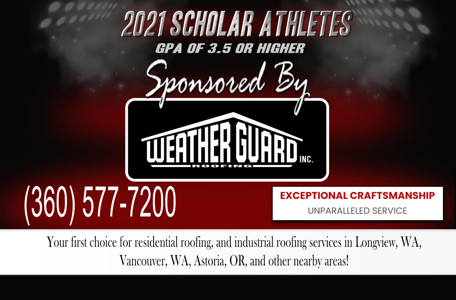 Season 1 Scholar Athletes – Sponsored by Weatherguard