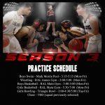 Season 3 Sports Practice Schedule