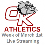 Athletic Events and Streaming Links- Week of March 1st