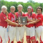 Softball wins District Championship, Seniors show off trophy