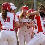 Hubbard's homer lifts softball, but team falls just short of a win over Mason
