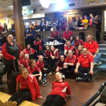 Girls Bowling competes in the Big Blue Classic