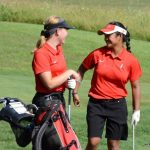 Girls Golf post win over Hamilton