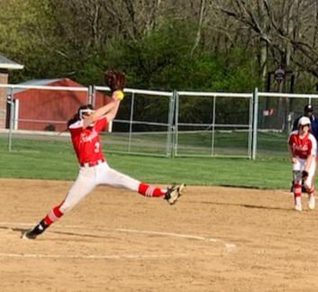 Freshman Jillian Huey wins her first varsity start on the mound, Mathews bat leads offense in win over Seton