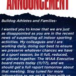 Athletic Update 11/17/2020
