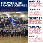 Season 1 Fall Sports Practice Schedule 2/1-2/5