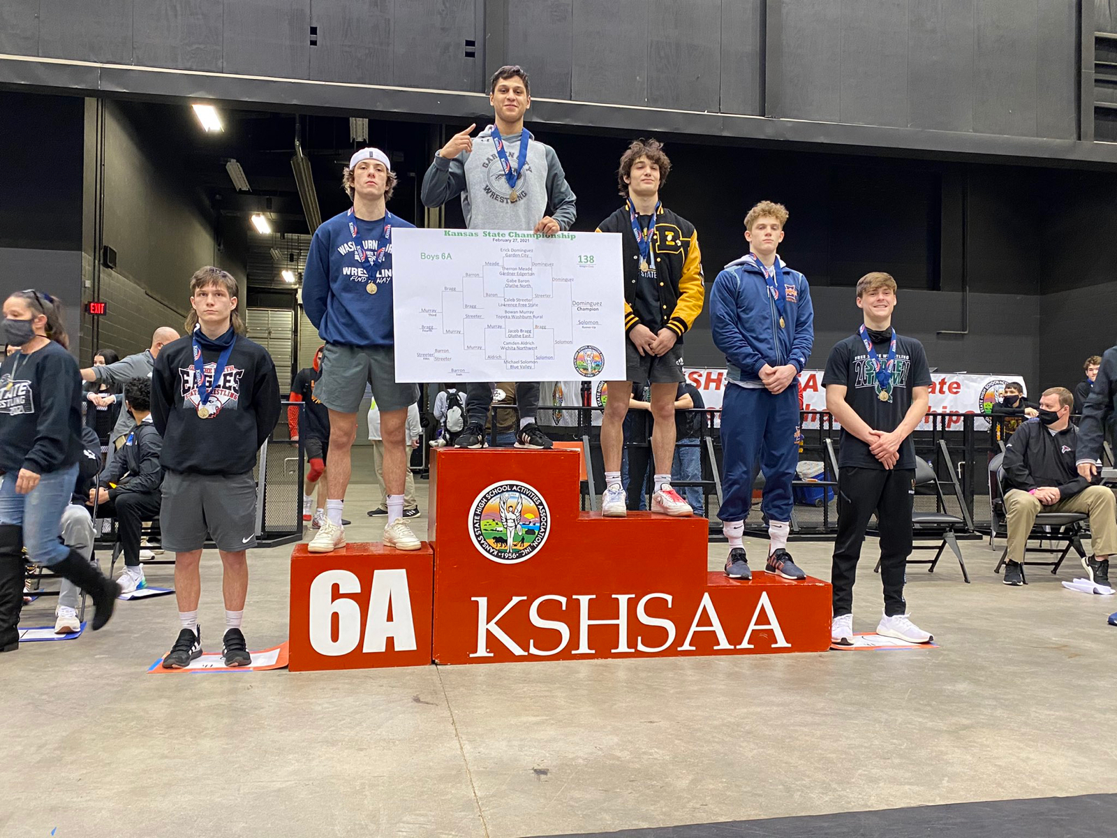 Dominguez strikes gold at 6A state wrestling