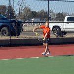 Buffs' tennis battles weather again