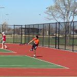 Buffs' tennis battle at Maize South