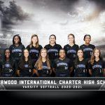Varsity Softball Group Photo Courtesy of Cady (Created with Photoshop)