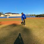 Principal Smith Throws Out First Pitch