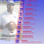 Raider Football Spring Practice Schedule