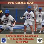 Game Day for Boys JV & Varsity Lacrosse