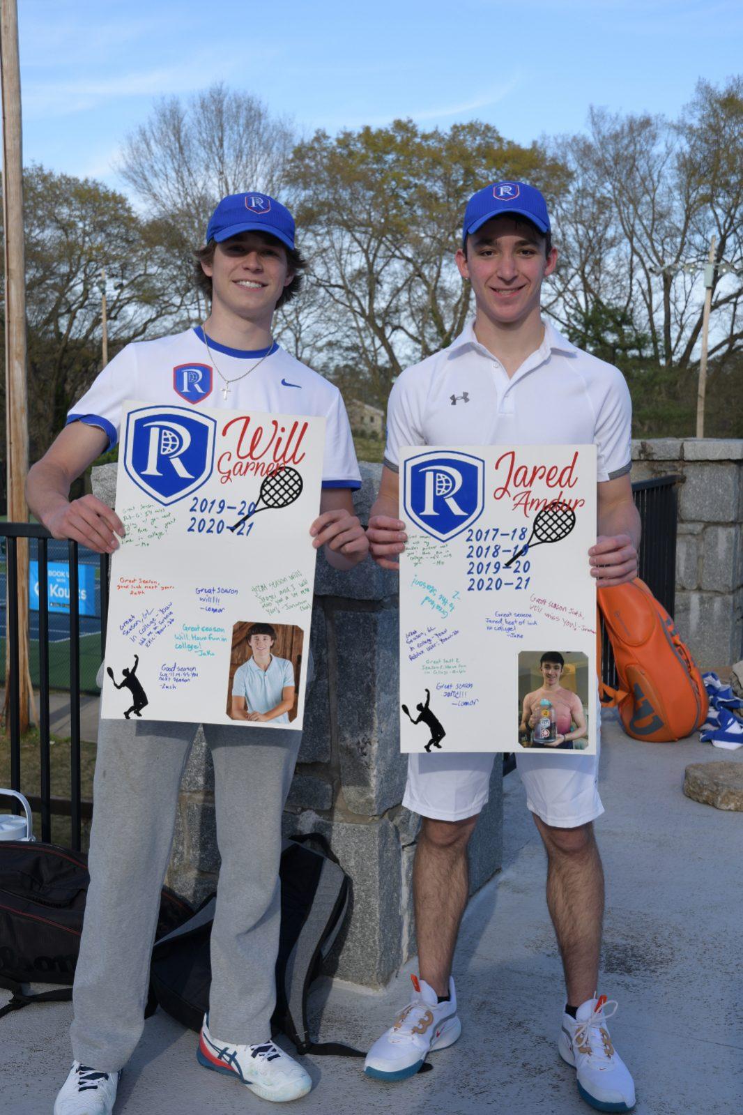 Congratulations to our Raider Boys Varsity Tennis Seniors