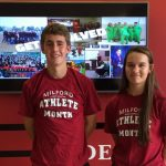 Milford High School September Athletes of the Month