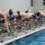 Milford High School Boys Varsity Swimming beat Lakeland High School 99-86