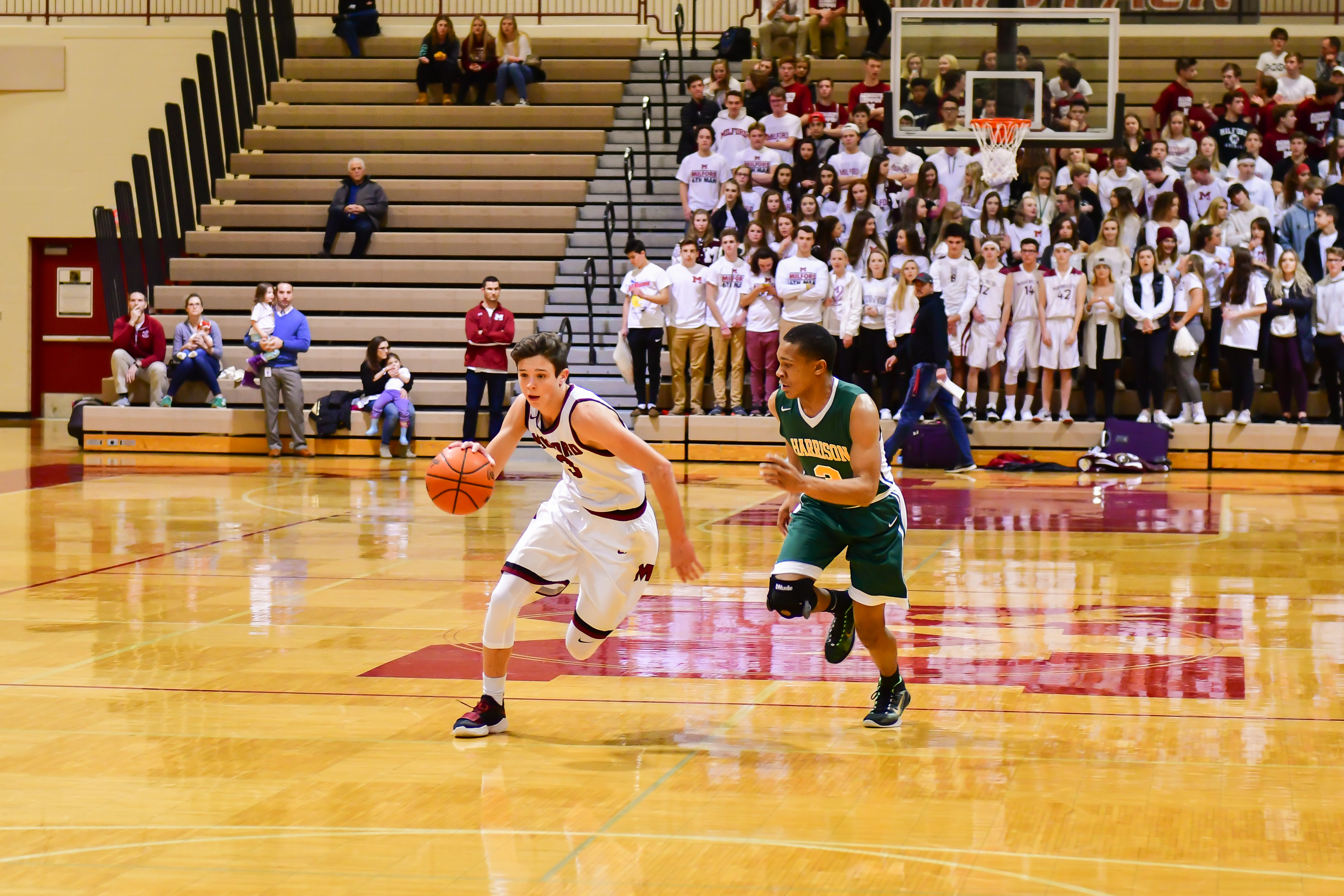 Milford Boys Basketball Start 2018 with a Pair of Road Wins