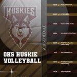 Othello Volleyball Schedule, 2021