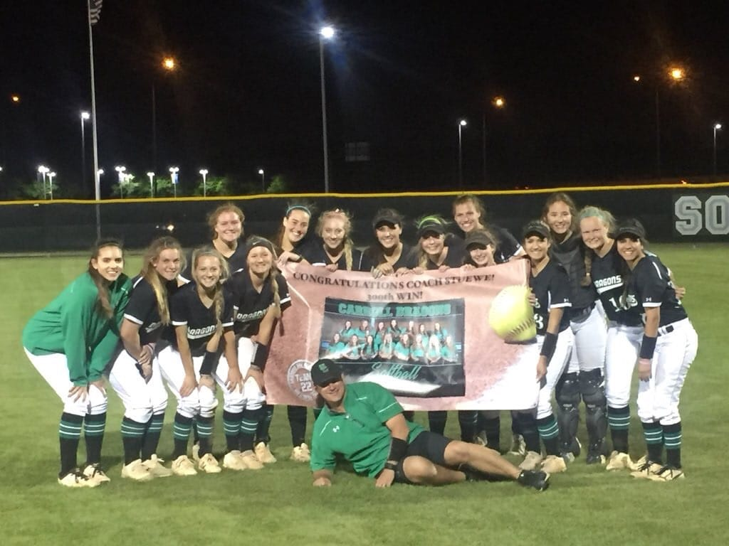 Lady Dragons come from behind to deliver Coach 300th career win
