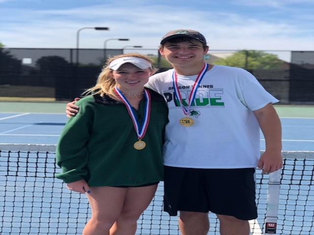 Dragon Tennis Mixed Doubles wins 1st at Regionals
