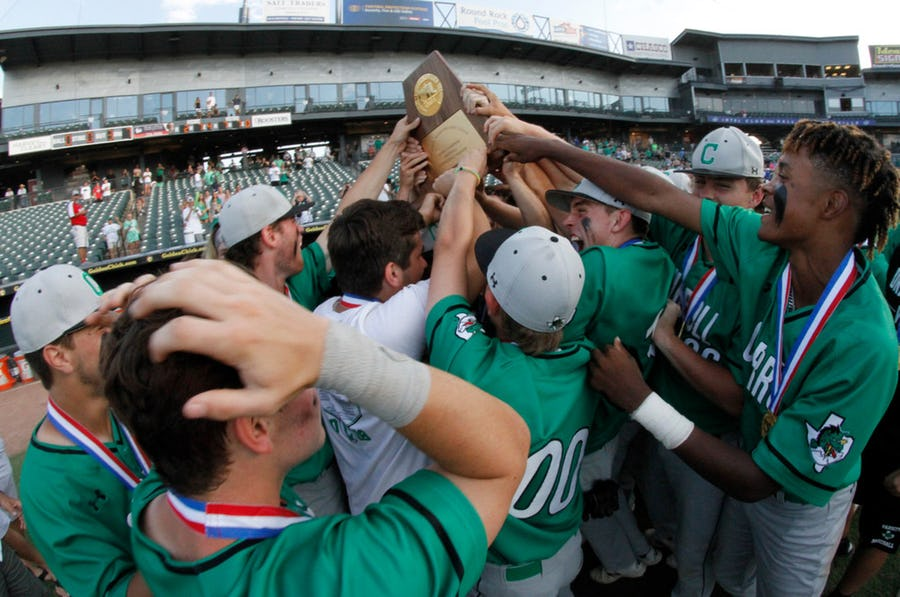 Baseball runs over and through Reagan for third STATE TITLE