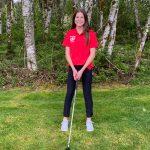 Freshman Laynee Logan competes as first CRHS female golfer