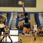 Mountain House High School Girls Varsity Volleyball beat Riverbank High School 3-0