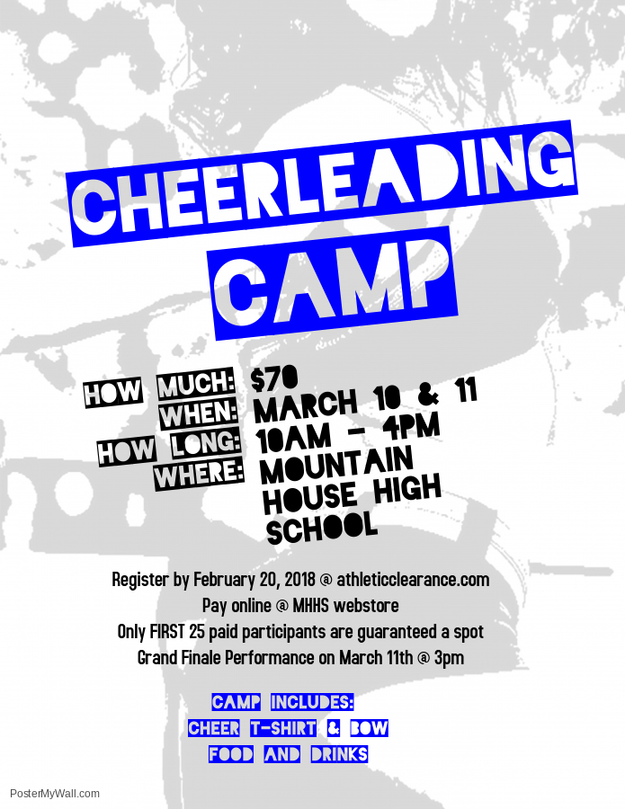 MHHS Cheer Team is Offering a Cheer Clinic March 10th and 11th