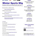 Winter Sports PreSeason Meeting, Thursday 10/25