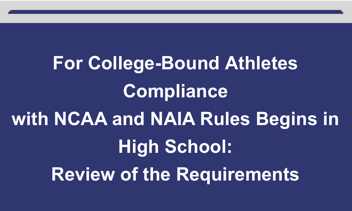 For College-Bound Athletes