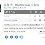 Mountain House Girls Varsity Basketball defeats Grace-Davis High
