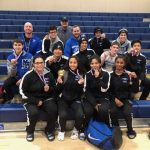 The Mustangs Wrestling Team competes at the WAC League Tournament at Beyer High School