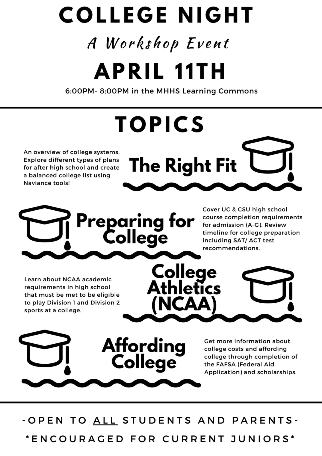 MHHS College Night April 11th