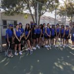 Lady Mustangs Varsity Tennis wins on the road