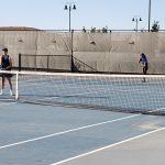 Lady Mustangs Varsity Tennis 7-0 half way through season.
